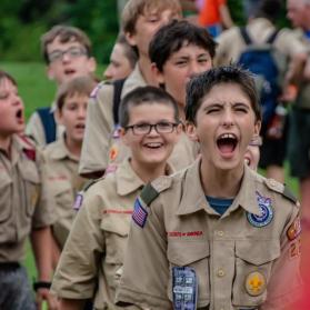 scouts shouting